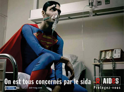 Superman Aids Ad